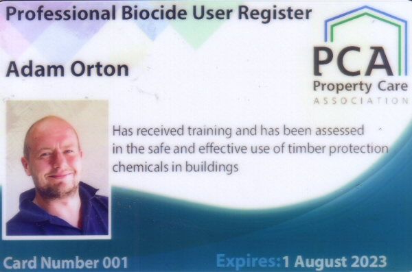 property care association Professional register of biocide users