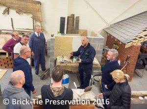 Andrew Ziminski holds court in the Property Care Association training shed.