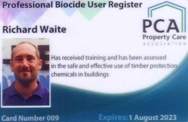 safe woodworm treatment PCA professional biocide user register