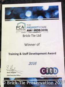 PCA winners BT Preservation 2016