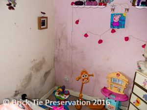 mould growth in a childs bedroom in York