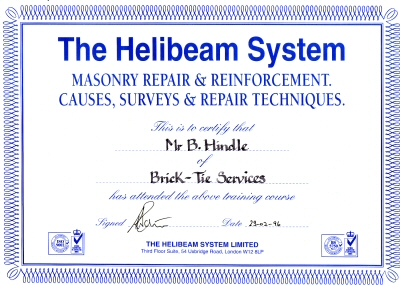 Helifix approved installer Yorkshire area