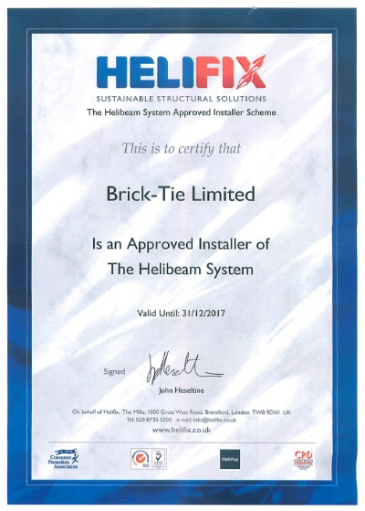 Helibeam and Helifix system approved installer 2017