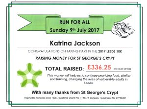St George's Crypt fund rais