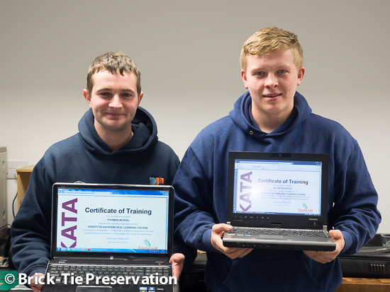 asbestos awareness for Leeds based damp specialist apprentices