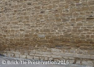Finished lime pointing and lime grouting