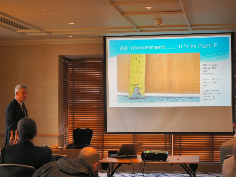 Expert damp surveys with Bryan Hindle CSRT CSSW AIOSH