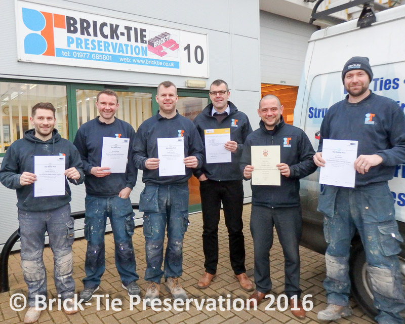 image of qualified construction supervisors and surveyors at Brick Tie who are still learning