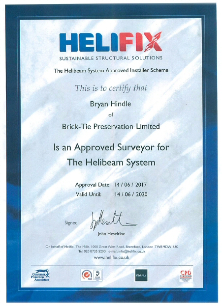 Helifix approved surveyor in Yorkshire