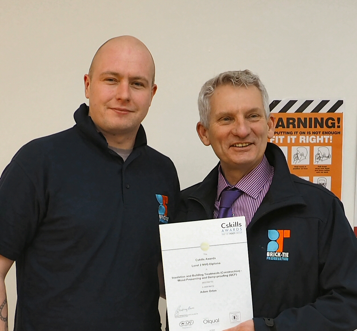Damp proofing skills for Adam Orton qualified damp and timber technician